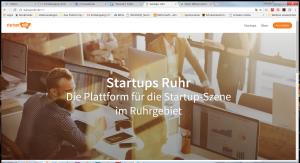 Titelseite Startupsruhr