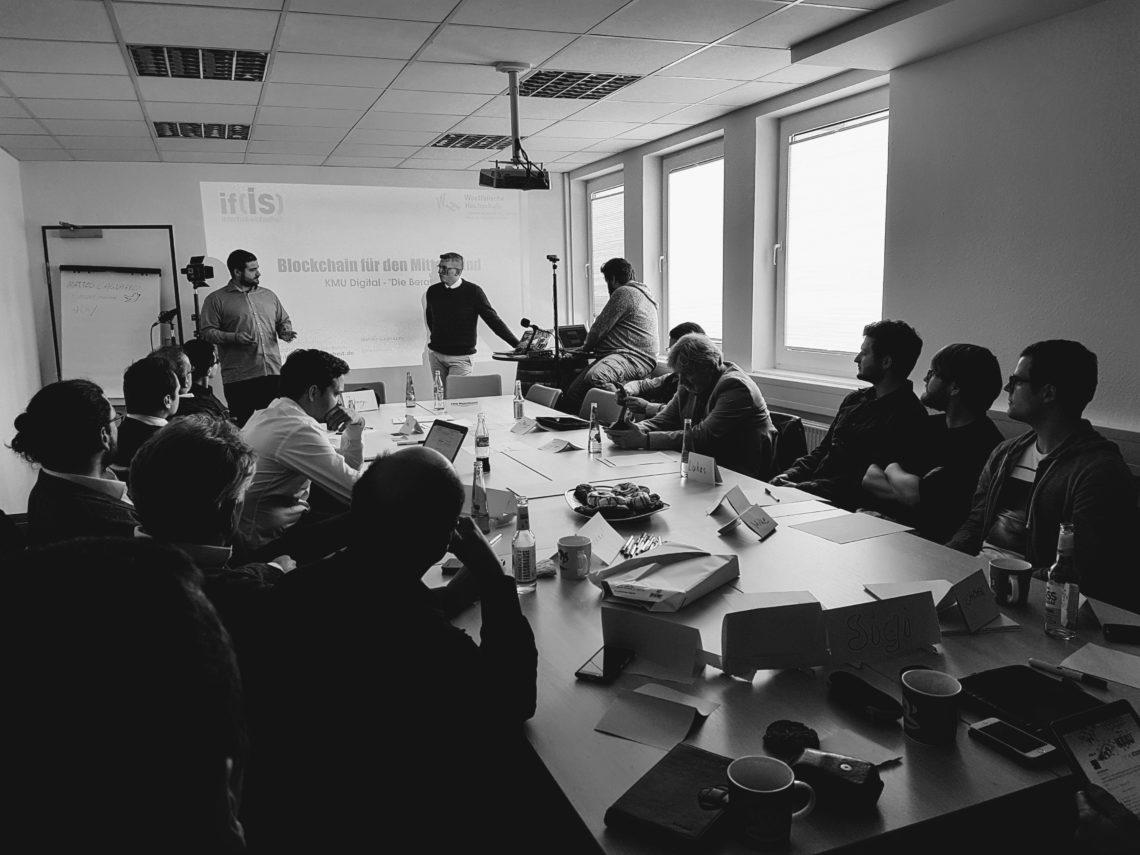 """KMU-digital und """"Die Berater"""" am 25.4.17: Die Blockchain und das Vertrauen in Kryptographie"""