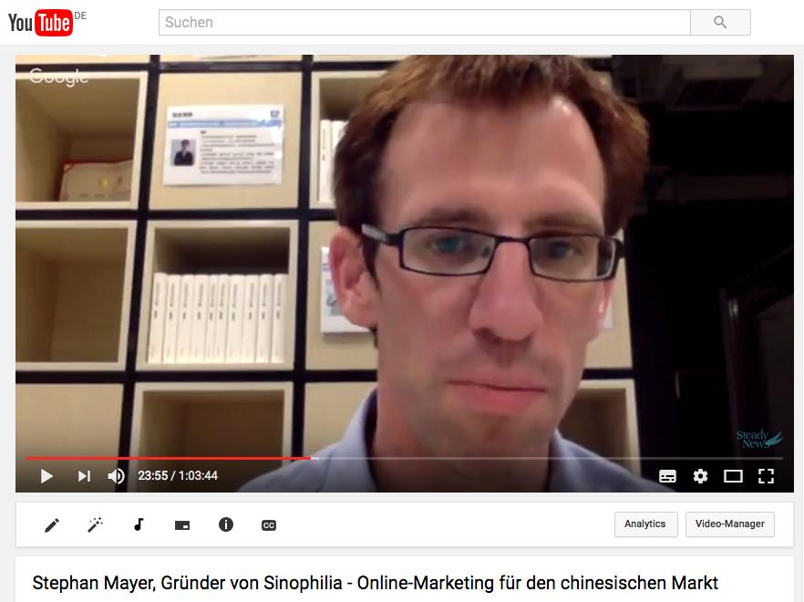 Video-Interview mit Stephan Mayer, Sinophilia, Online-Marketing für Deutschland-China Business