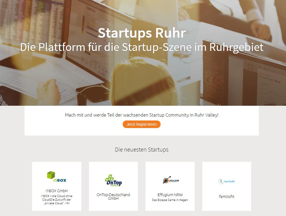 Ruhrgebiets-Startup finden