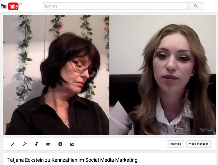 Social Media Erfolgsmessung: Video-Interview mit Tatjana Eckstein zu Social Media Kennzahlen