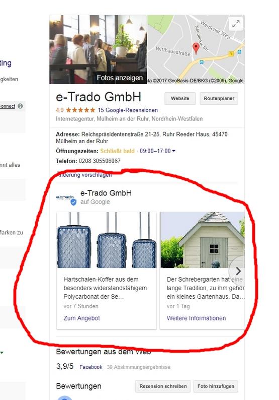 Tipp von Igor Adolph, e-Trado: Beiträge bei Google MyBusiness veröffentlichen