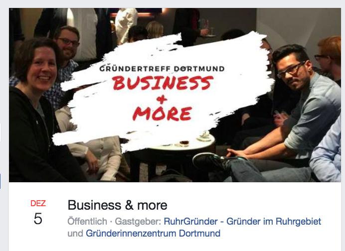 Gründer/Innenstammtisch in Dortmund am 5.12.: Business & more