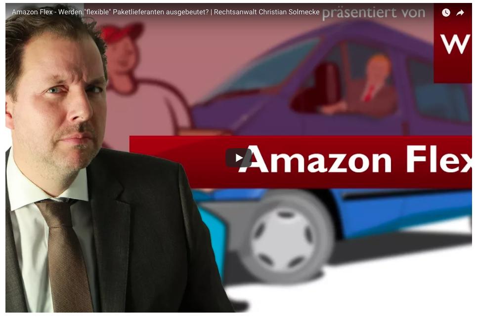 Amazon Flex: Uber für Pakete? Christian Solmecke erläutert im Video Risiken und Chancen für selbstständige Paketboten