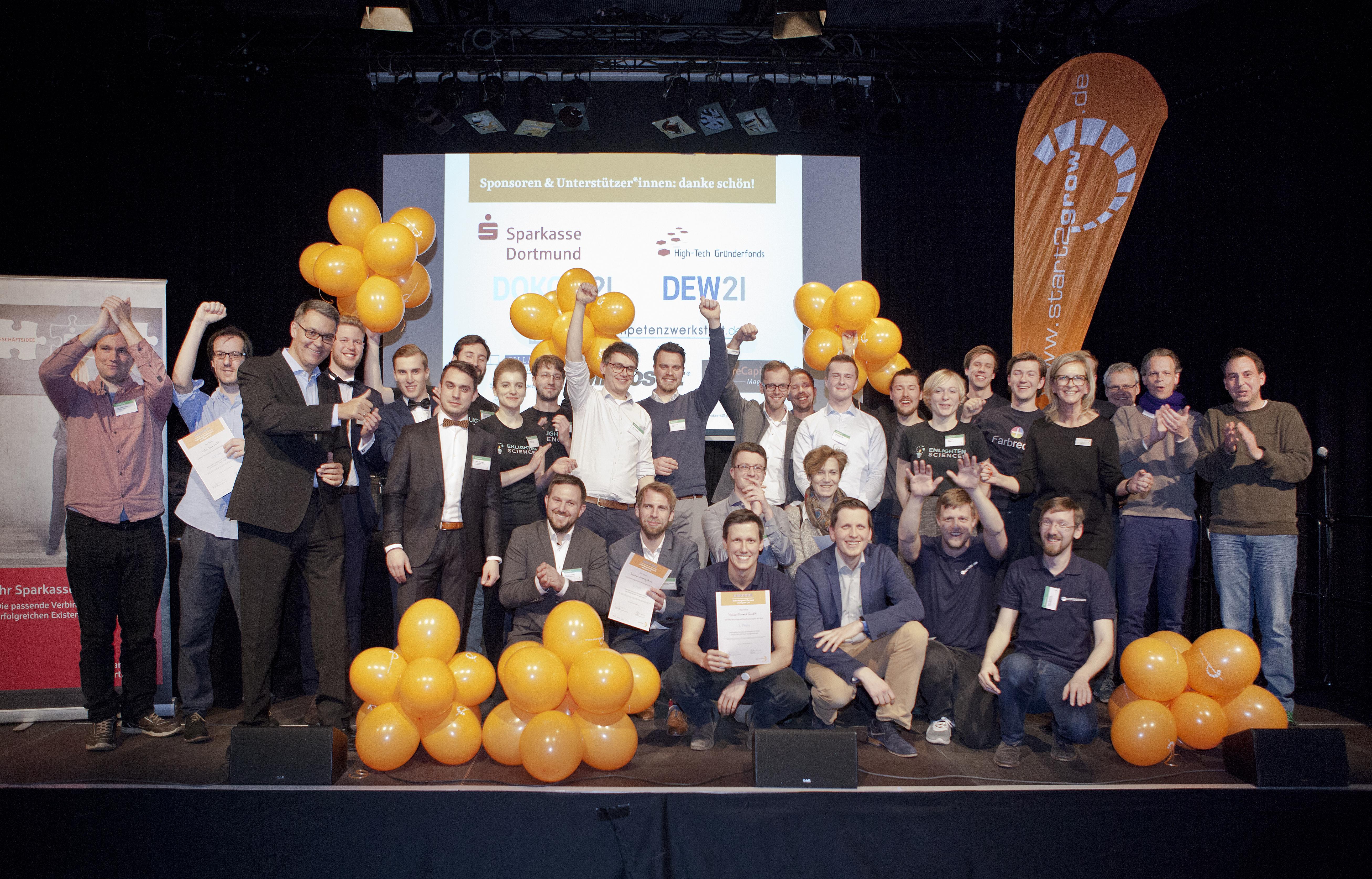 Der 38. start2grow Gründungswettbewerb: Alle Preisträger auf einen Blick