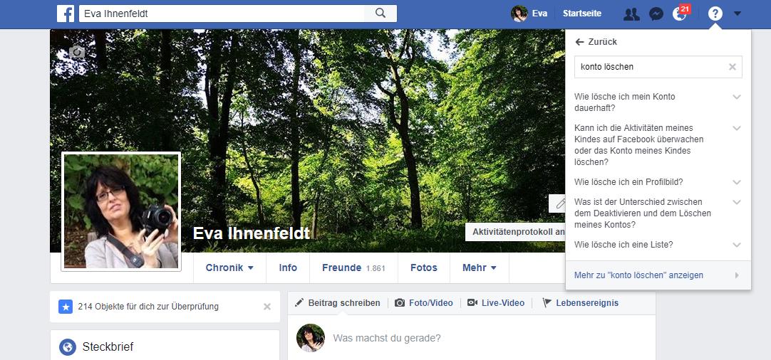 Facebook-Konto löschen – Anleitung und Konsequenzen