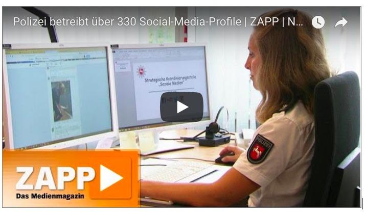 ZAPP-Video auf YouTube: Über 330 Polizeibehörden nutzen Social Media