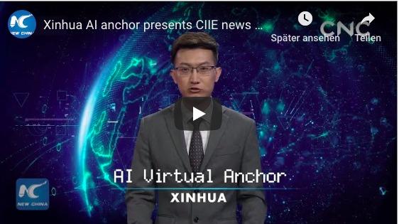 In China gibt es die ersten TV-Nachrichtensprecher mit künstlicher Intelligenz