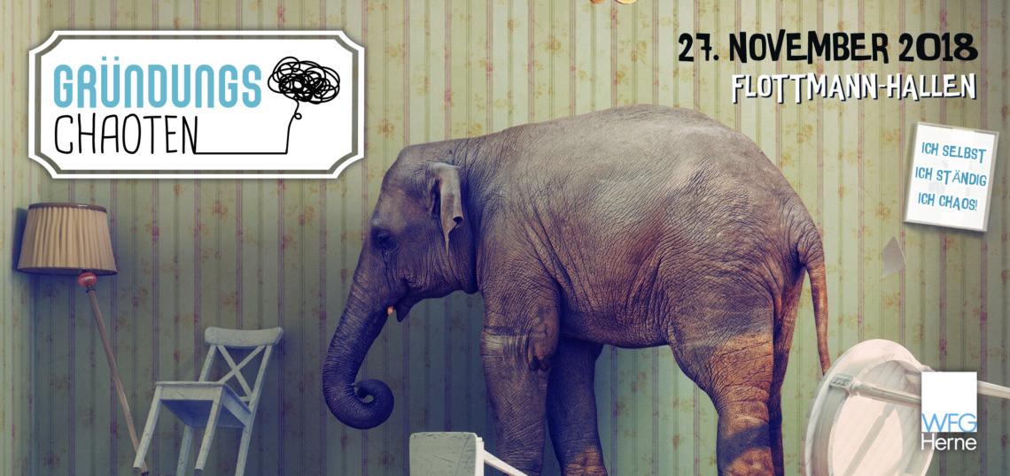 Einladung zur Gründungs-Chaoten-Show: 10 Jahre WFG-STARTERCENTER am 27.11.18 in Herne