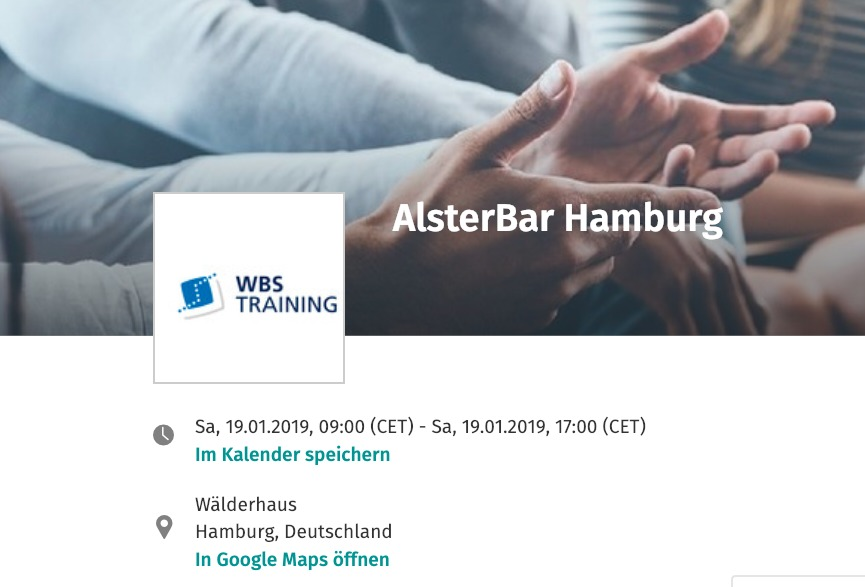 #AlsterBar Sessionplan am 19. Januar 2019 in Hamburg