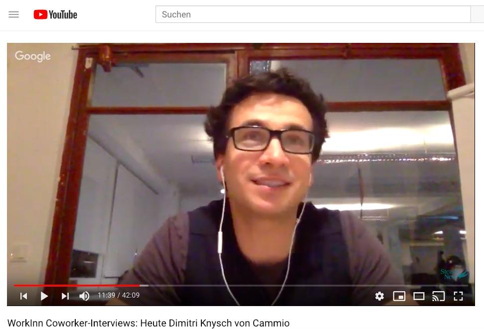 WorkInn Coworker-Interviews: Heute Dimitri Knysch von Cammio