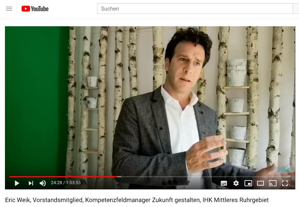 YouTube-Interview mit Eric Weik zum agilen Change in der IHK Mittleres Ruhrgebiet
