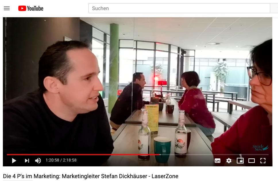 Die 4 P's im Marketing: Stefan Dickhäuser von LaserZone erläutert den Marketingerfolg des Unternehmens