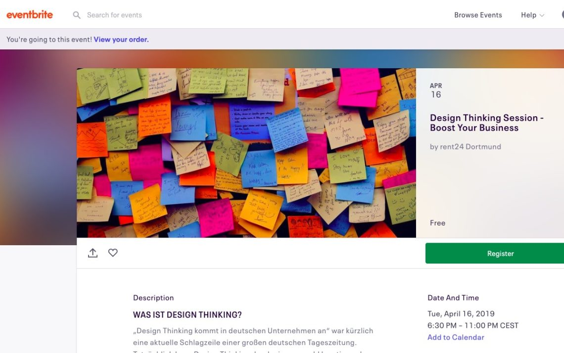 16.04.2019 in Dortmund: Design Thinking-Session mit Mehmet Karakus