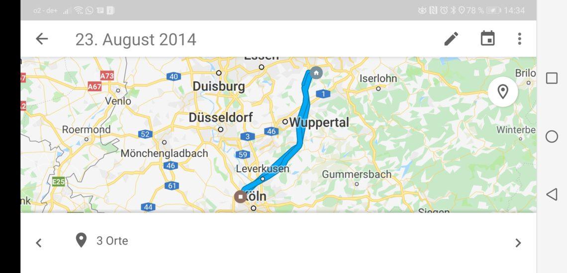"""""""Google Zeitachse"""" Google Maps erfasst ständig Euer Bewegungsprofil – auch zu Fuß"""