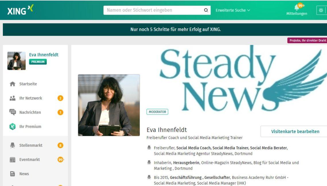 """Social Media """"Einfach tun"""": 15. Xing-Strategie – für Selbstständige, Freiberufler und Unternehmen"""