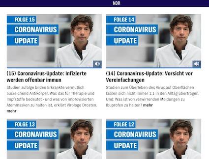 NDR Coronavirus Podcast mit Virologe Prof. Christian Drosten: tägliches Update