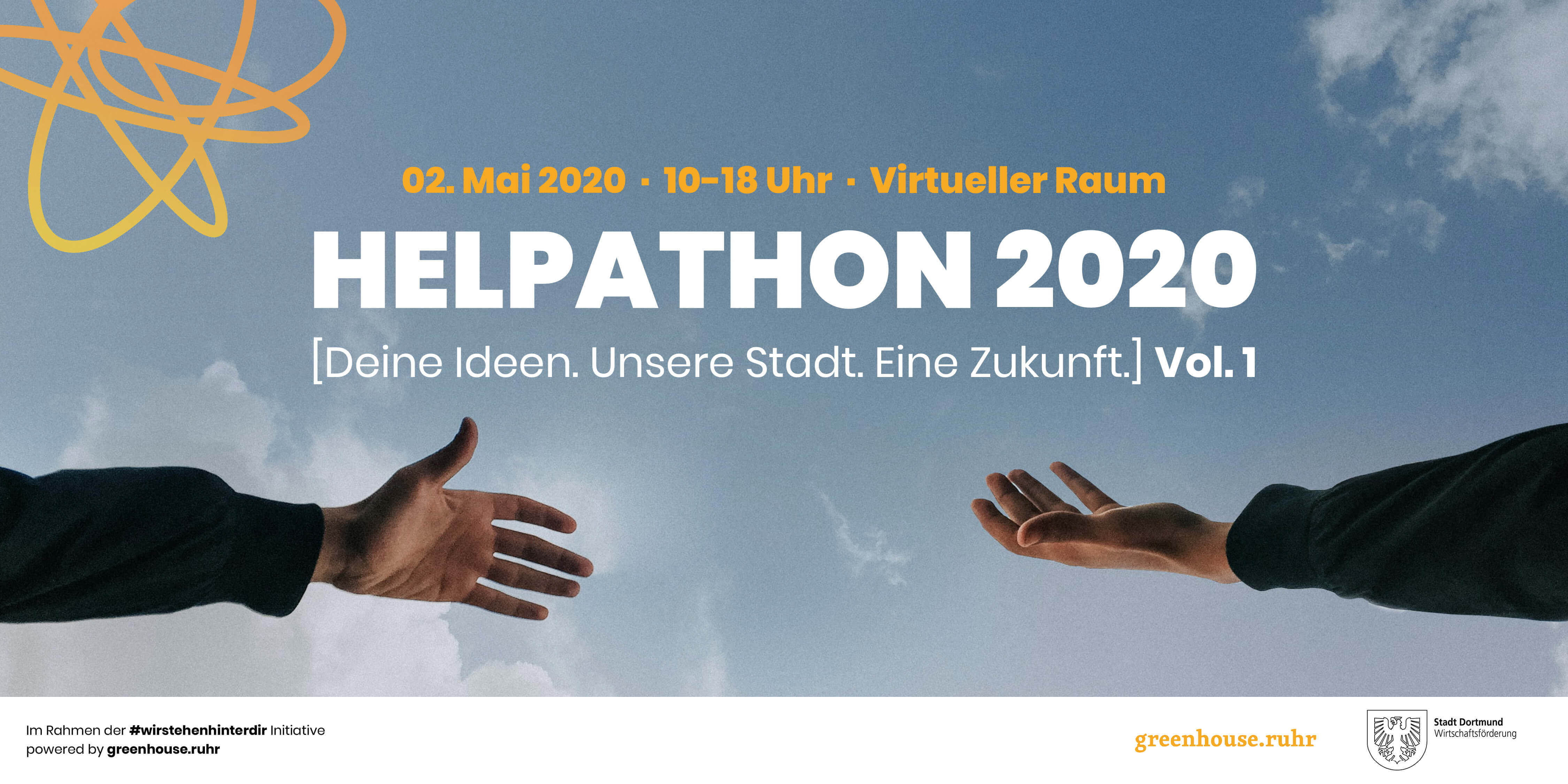 Einladung zum HELPATHON 2020 am 2. Mai 2020 – alles online für Dortmund