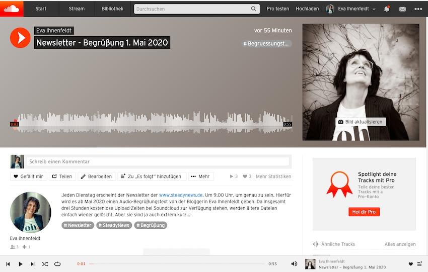 Audiobegrüßung mit Soundcloud für den E-Mail-Newsletter